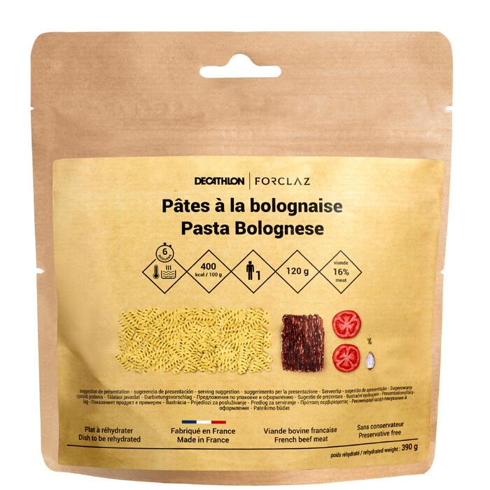 Vriesdroogmaaltijd voor trekking pasta bolognese 120 g