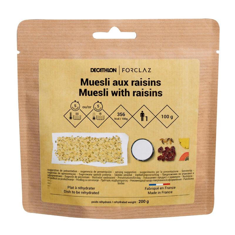 Cereal and raisin muesli trekking breakfast 100 g