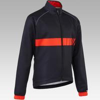 500 Kids' Cycling Jacket - Black/Red