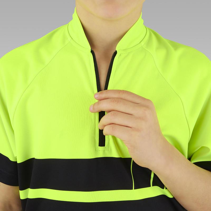 Áo jersey đạp xe ngắn tay 500 cho trẻ em - Vàng