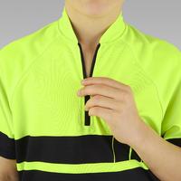 """Vaikiški dviratininko marškinėliai trumpomis rankovėmis """"500"""", geltoni"""