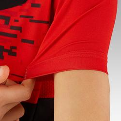 900 Kids' Short-Sleeved Cycling Jersey - Black/Red