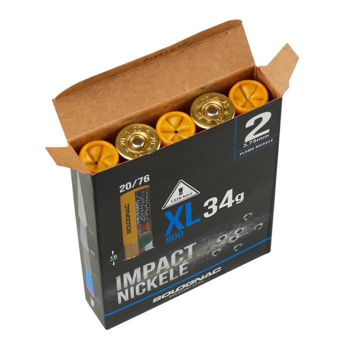 Patronen XL900 34 g vernickelt Kaliber 20/76 Blei Nr.2 X10
