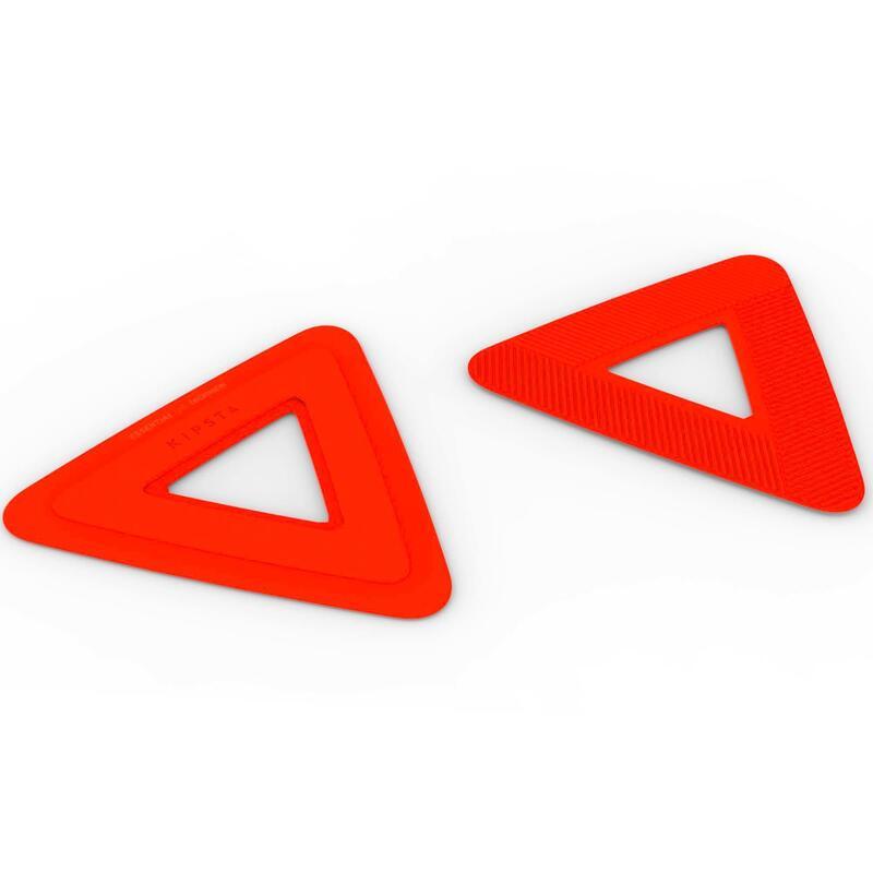Set met 10 platte trainingsschijven voor voetbal oranje