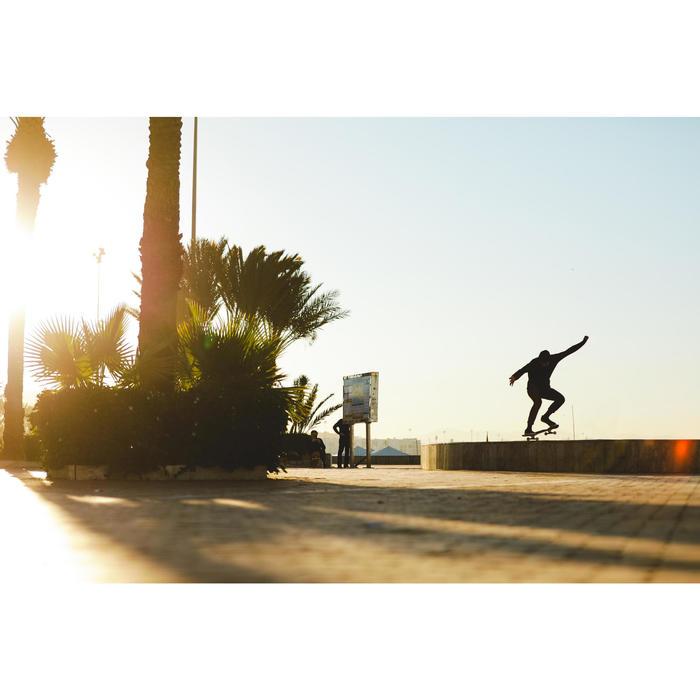 """Skateboard-Deck 100 Größe 8,5"""" holzfarben/rot"""