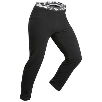 Men's Mountain Trekking Fleece Leggings Trek 100 - Black