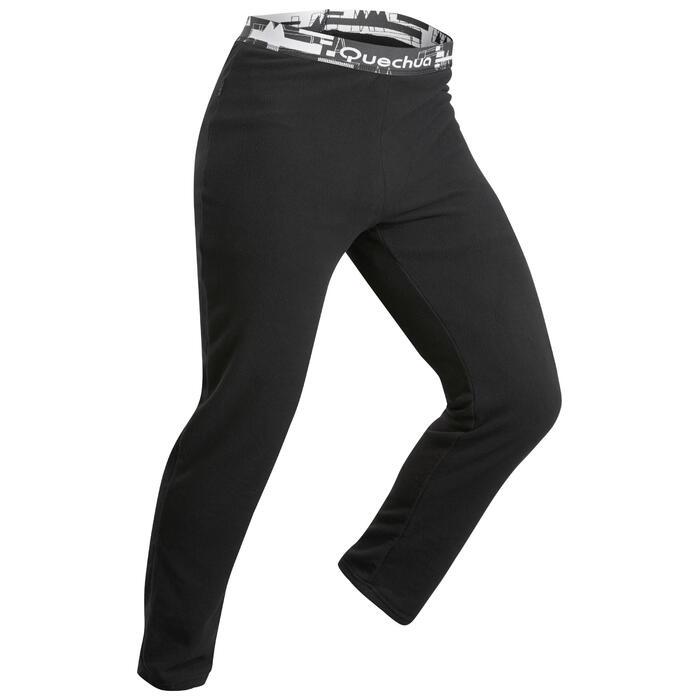 男款登山健行緊身褲TREK100 -黑色