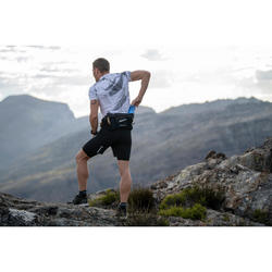 Trinkgürtel Trail Running für 2 weiche Trinkflaschen à 500ml schwarz/bronze