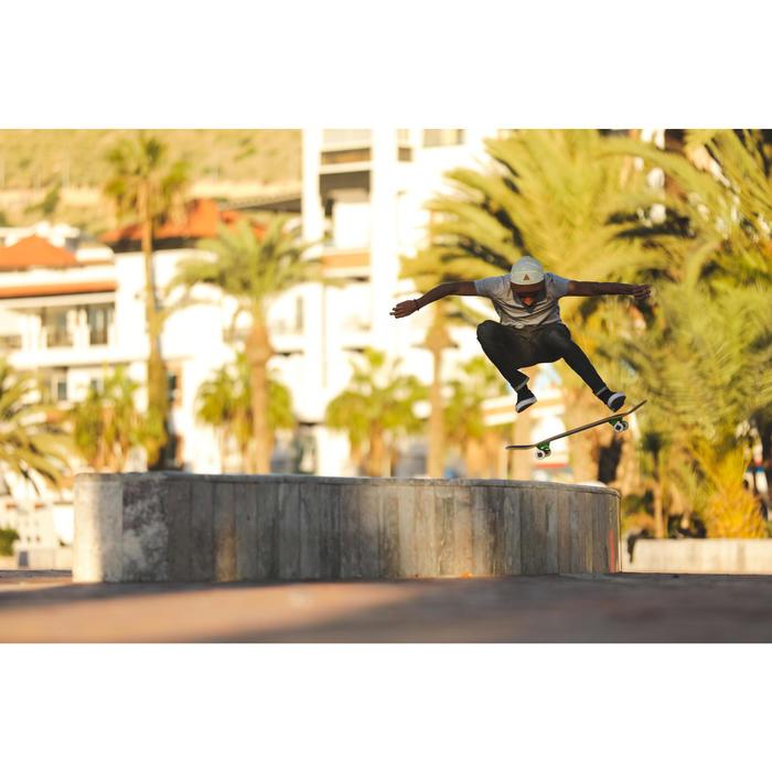 Skateschuh Slip-On Vulca 500 Low Erwachsene schwarz/weiß