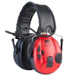 Elektronische geluidswerende oorbeschermer SportTac zwart/rood