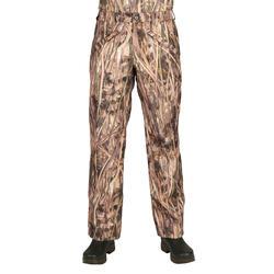 Pantalon chasse imperméable 100 camouflage marais