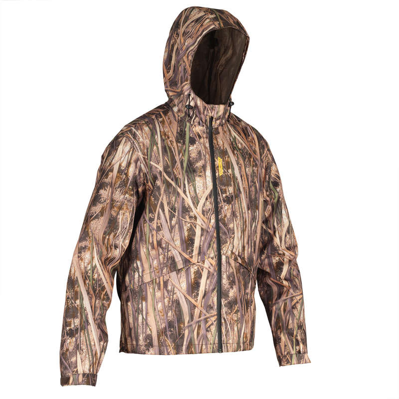 CAMOUFLAGE REEDS CLOTHING Shooting and Hunting - 100 waterproof wetlands jacket SOLOGNAC - Hunting Types