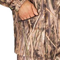 Veste chasse chaude et coupe-vent 100 camouflage marais