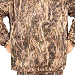 Veste chasse chaude et coupe-vent 500 camouflage marais