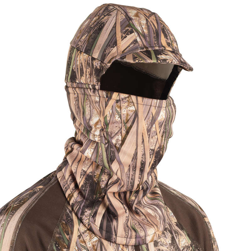 CAMOUFLAGE REEDS CLOTHING Shooting and Hunting - 500warm balaclava wetlandscamo SOLOGNAC - Hunting and Shooting Clothing