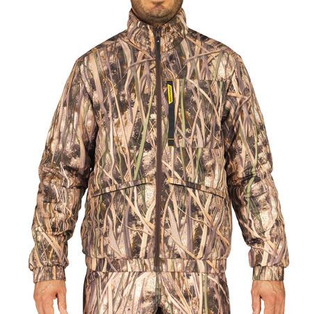 Veste rembourrée chasse chaude 100 camouflage marais