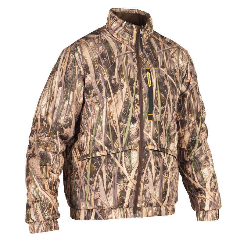CAMOUFLAGE REEDS CLOTHING Shooting and Hunting - 100 warm down jacket camo SOLOGNAC - Hunting Types
