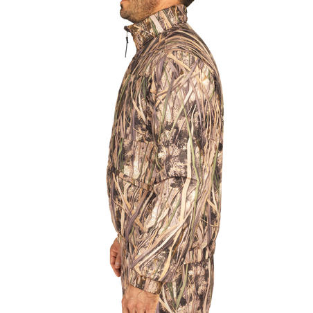 Warm 100 hunting jacket with wetlands camouflage
