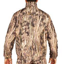 Warme gewatteerde jagersjas 100 camouflage moeras