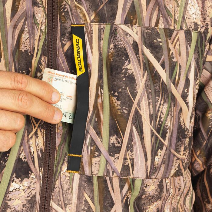 Doudoune chasse chaude 100 camouflage marais