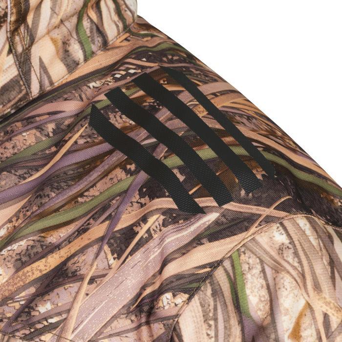 Chaqueta Caza Solognac 900 3 en 1 Camuflaje Marismas Impermeable Calida