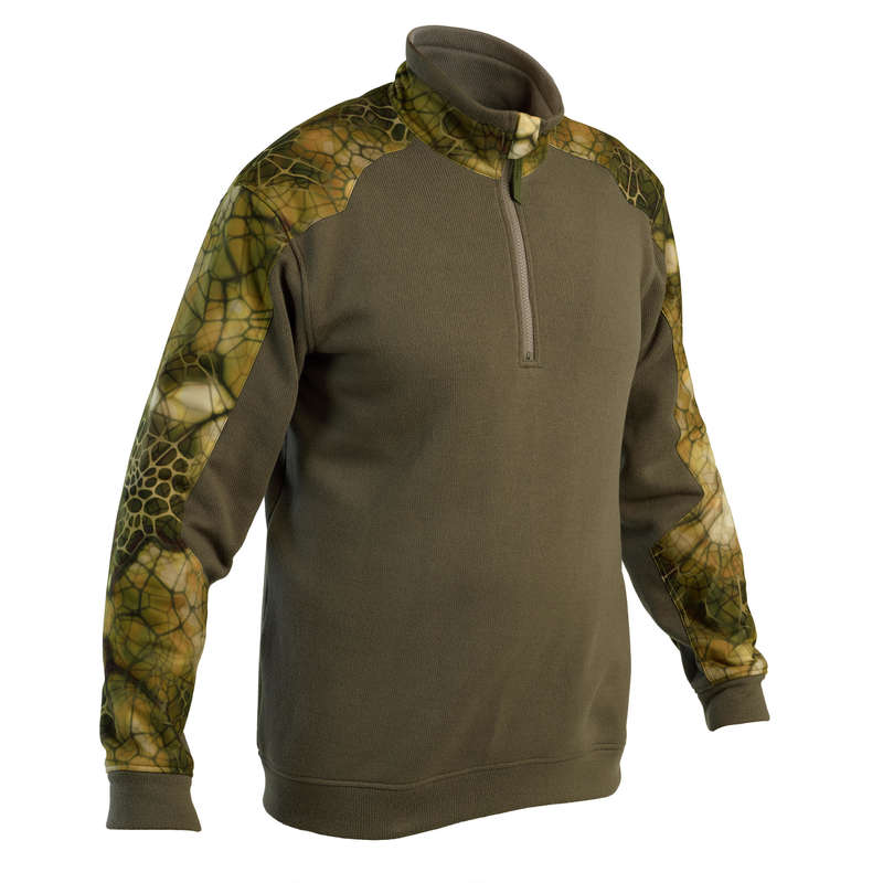 SWEATERS Shooting and Hunting - Reinforced Pullover 500 Furtiv SOLOGNAC - Hunting and Shooting Clothing