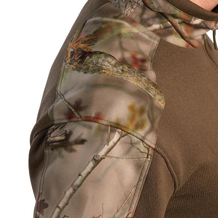 Jersey Caza Solognac 500 Calido Reforzado Camuflaje Marron