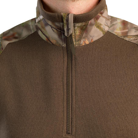 Hunting Reinforced Pullover 500 - Woodland Camo