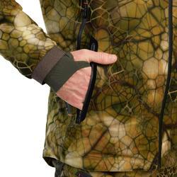 Jagd-Regenjacke FURTIV 900 geräuscharm warm camouflage
