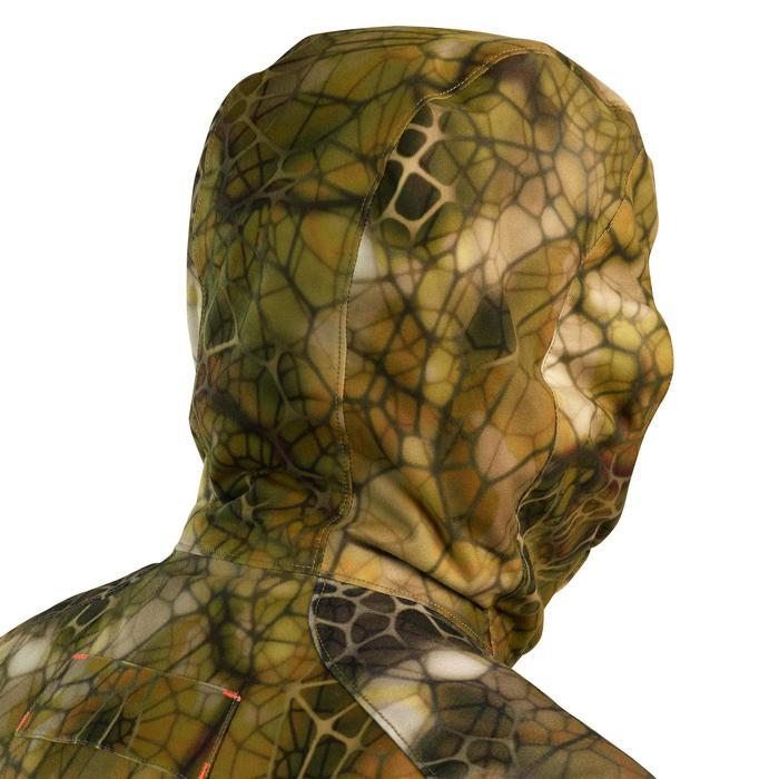 Jagd-Regenjacke Geräuscharm warm 900 Camouflage FURTIV