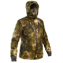 Warme, geluidloze, waterdichte camouflagejas voor de jacht Furtiv 900