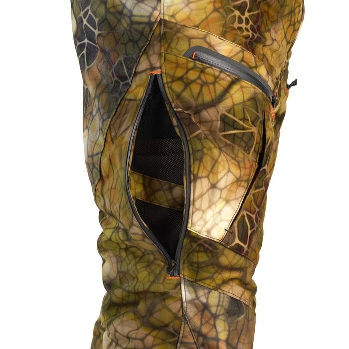 Jagdhose Geräuscharm Wasserdicht 900 Camouflage FURTIV