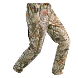 Hunting Fleece Pants 100 - Forest Camouflage