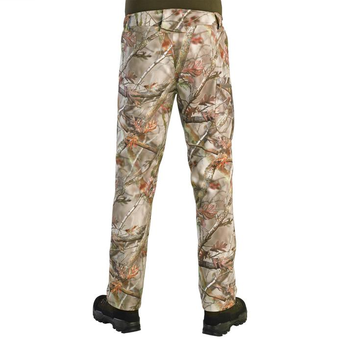 Pantalon Chasse Polaire 100 camouflage foret