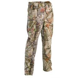 Fleece camouflagebroek voor de jacht 100 bos