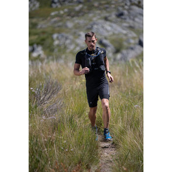 Tee shirt manches courtes trail running noir homme