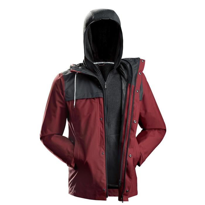 Veste TRAVEL 100 3en1 Homme rouge