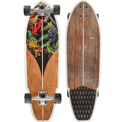 Tabla Longboard OXELO CARVE 540 BIRD Adulto Marrón/Negro