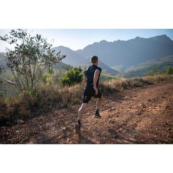MEN'S TRAIL RUNNING SHORT-SLEEVED T-SHIRT - BLACK