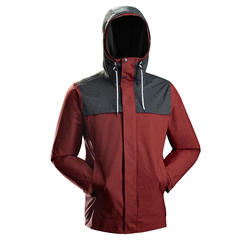 Men's Travel Trekking 3-in-1 Jacket Travel 100 - red