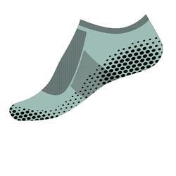 Calcetines antideslizantes Sport Pilates hombre verde claro