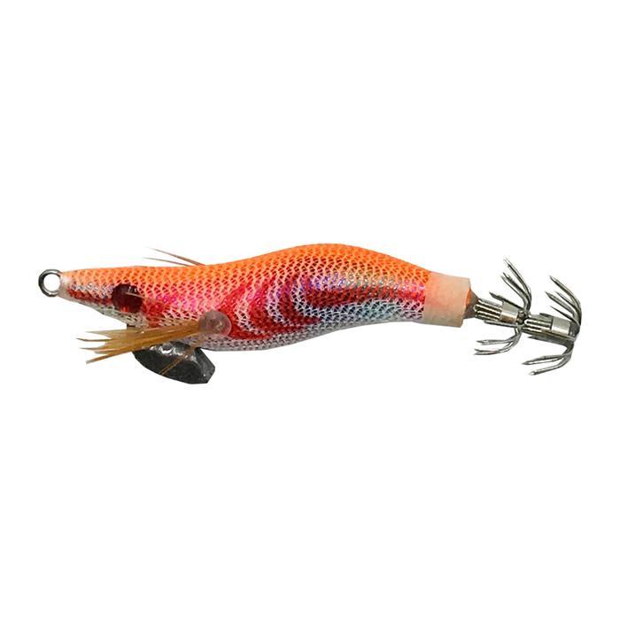 Verzwaarde inktvisplug EGI oranje 1.5 4 cm voor het vissen op zeekat/pijlinktvis