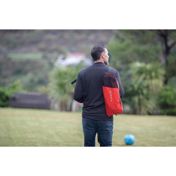 Opblaasbaar voetbaldoeltje Air Kage rood/oranje