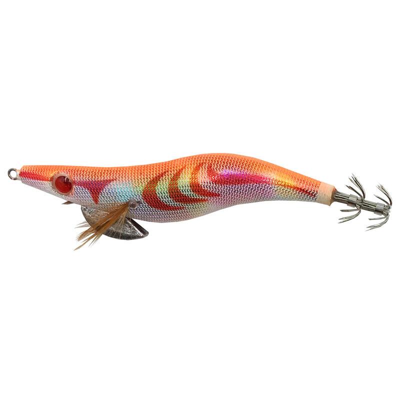Turlutte EGI plombé orange 3.5 12cm pêche des seiches/calamars