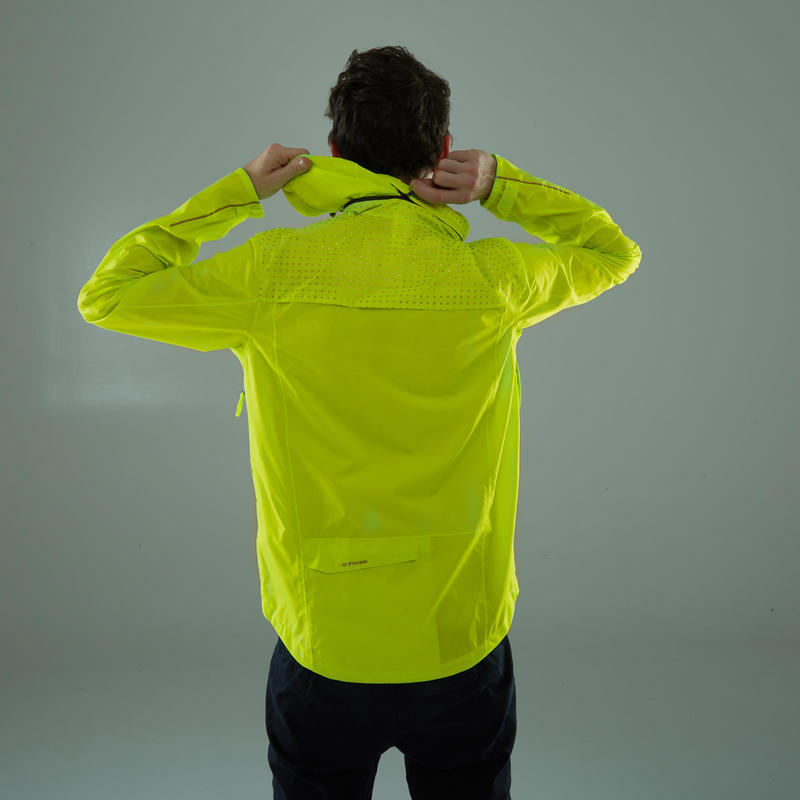 100 Cycling Rain Coat- Neon Yellow