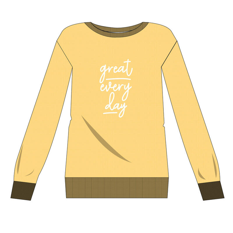 Crew Neck Fitness Sweatshirt - Yellow