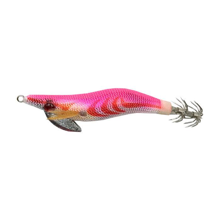 Inktvisplug EGI gelood roze 1.8 voor vissen op koppotigen/inktvissen