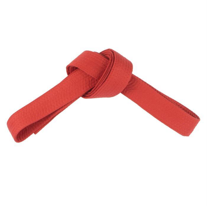 Judoband / Karateband piqué 2,80 m, rood