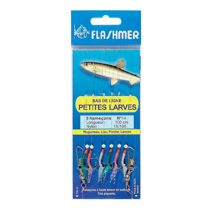 Aparelhos Carapau Pesca no mar - Pequenas larvas 6 anzóis N.°14 NO BRAND - Pesca Embarcada