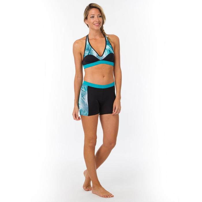 Braga Bikini Surf Pantalón Corto Short Olaian Reva Mujer Culotte Negro Azul